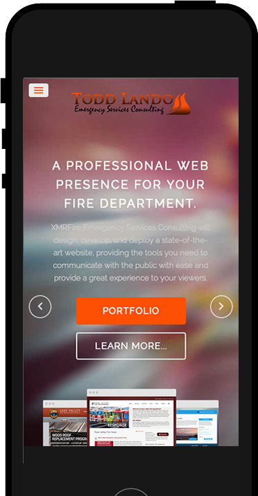 Responsive Fire Department Websites for Mobile devices